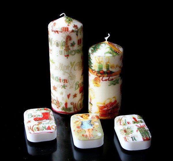 クリスマスデコパージュ☆キャンドル&石鹸