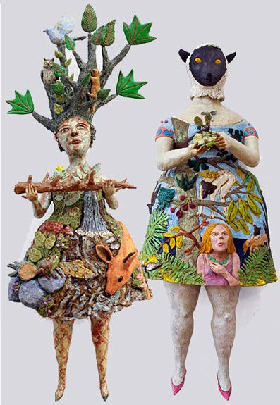 a painter who switched to ceramics – visual artist Kathy Ruttenberg and her unique sylvan creatures