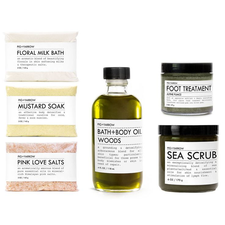 BATH+BODY KIT {SEA/WOODS}