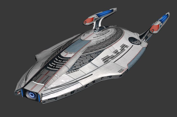 Star Trek Online: Modeling Omega - Here, you can see the beginnings of the texturing process.