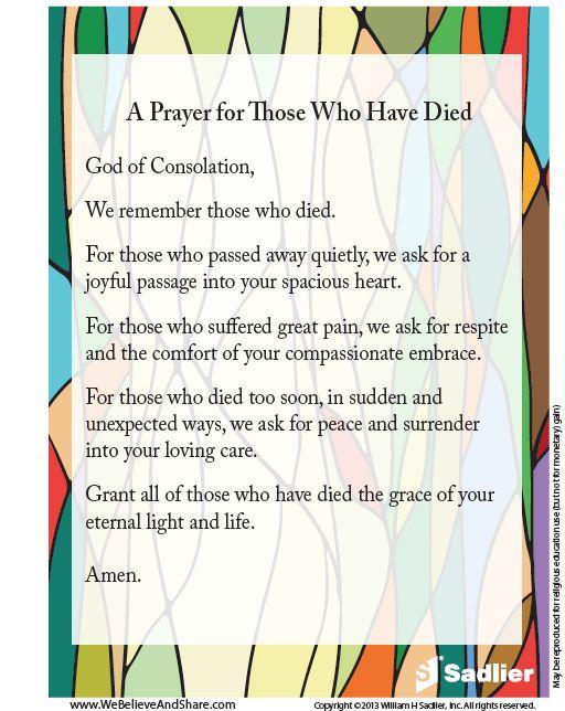 A Prayer For Those Who Have Died  #Catholic #Prayer #Catholics