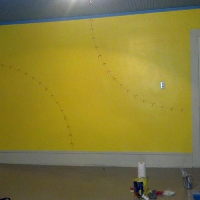 softball wall for my daughters bedroom
