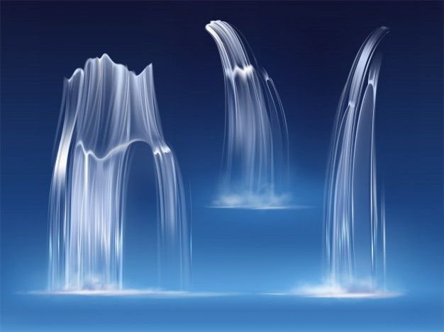 Download Waterfall Cascade Realistic Water Fall Streams Set Of Pure Liquid With Fog Of Different Shapes River Fountain Element For Design Nature Realistic 3 Waterfall Cascade Water Water Splash Png
