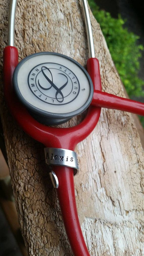Check out this item in my Etsy shop https://www.etsy.com/listing/456669494/stethoscope-name-tag-stethoscope-id