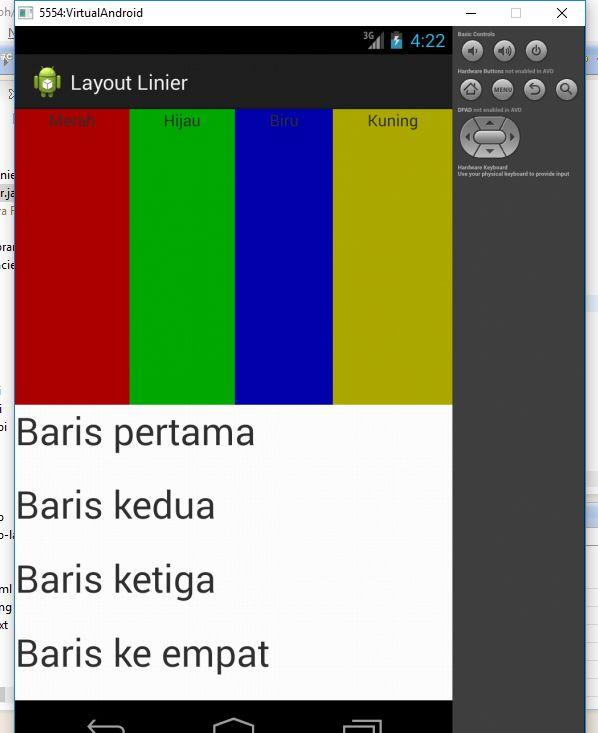 Tutorial Android - Membuat Linear Layout