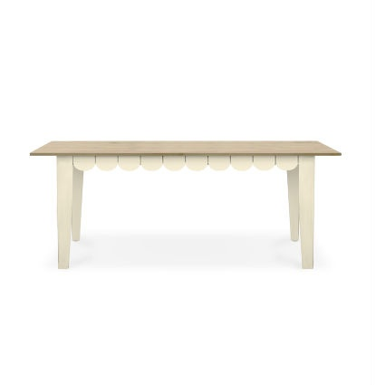 Dining Table Scalloped Dining Table