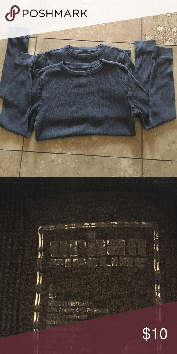 Boys large Urban Pipeline gray thermo shirt. Two boys large gray Urban Pipeline long sleeved thermo shirts in good condition. Urban Pipeline Shirts & Tops Tees - Long Sleeve
