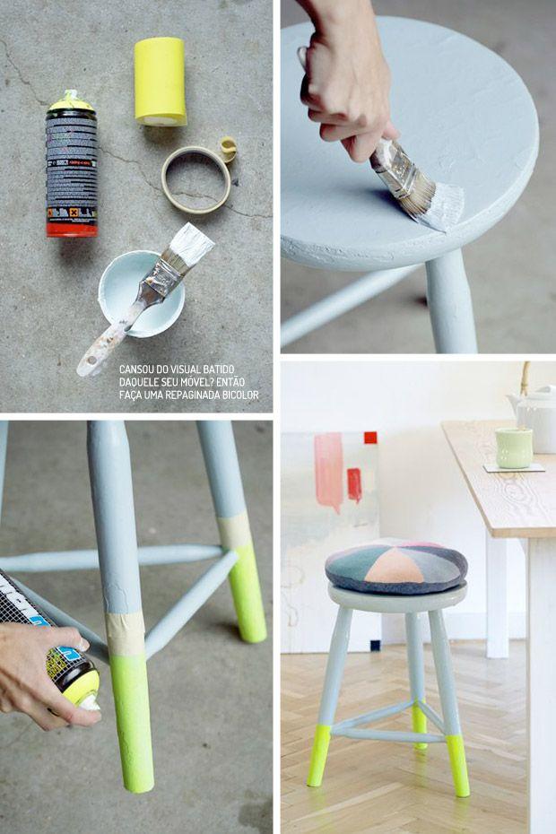 Deixe seus móveis na tendência Dip Dye. Veja como: www.casadevalenti... #diy #mobile #moveis #trend #tendencia #color #cor #design #moda #casadevalentina