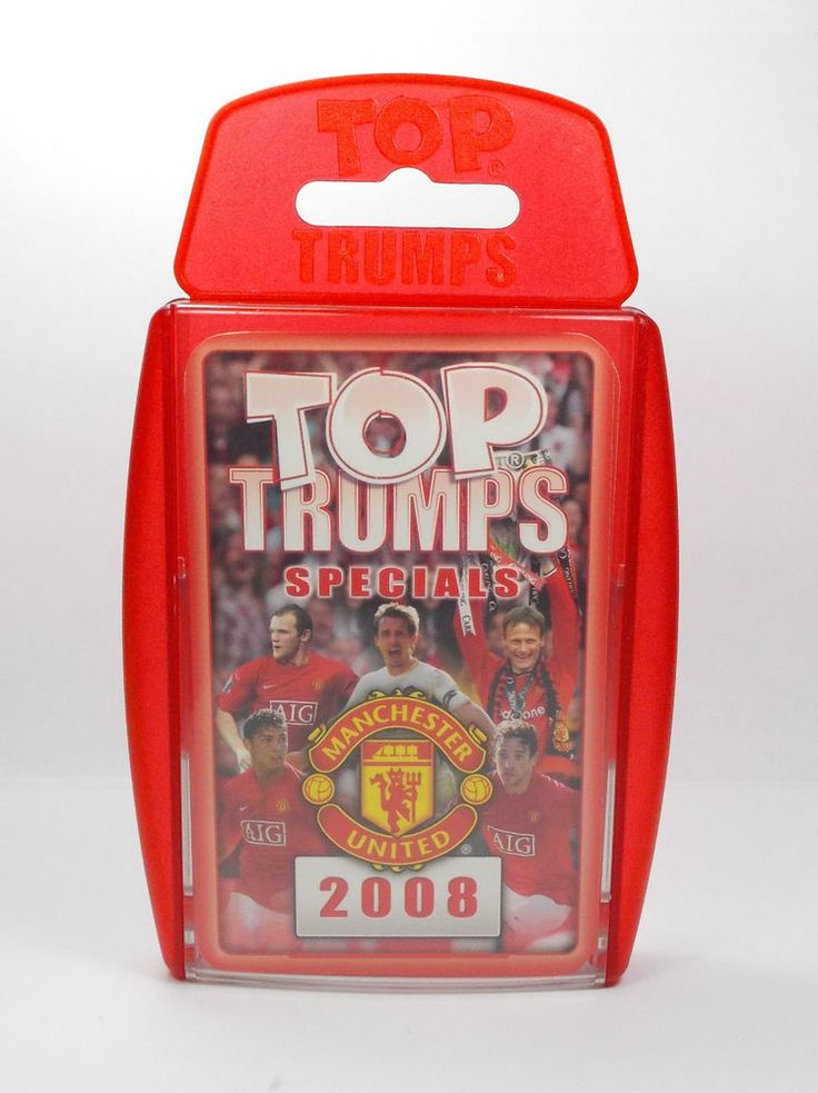 Top Trumps - Manchester United 2008 - Complete Set 30 Cards + Title Card