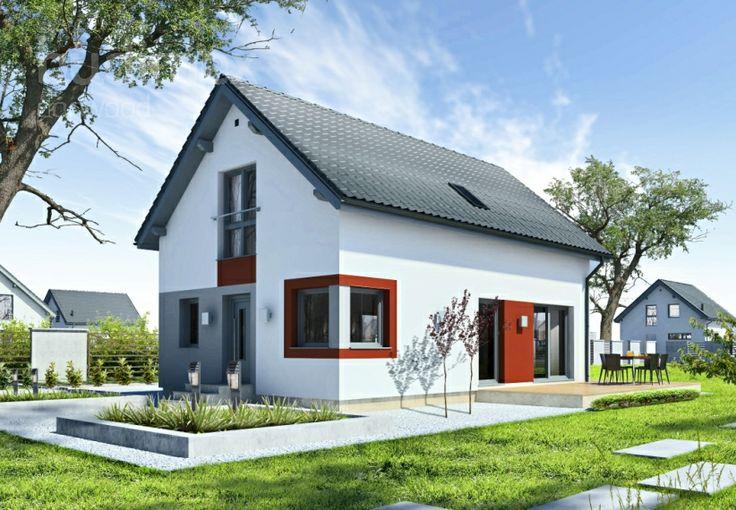 Eineinhalbgeschossige Häuser Point 114.1 || #houses #hauser || http://www.danwood.de/hauser/eineinhalbgeschossige/point-114-1