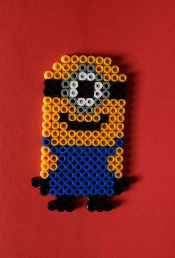 Minion Despicable me Hama beads magnet by Alabauhaus