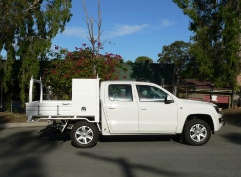 VW Amarok Dual Cab Sovereign Steel Tray Powder Coated White (TS-VW-AM-01-W) | Sovereign Design