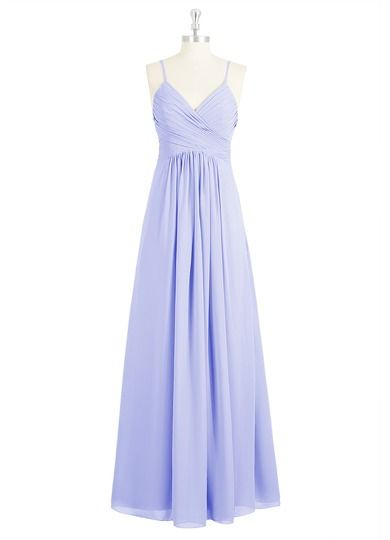 AZAZIE HALEIGH. The lovely floor-length bridesmaid dress by Azazie has an A-line/princess cut in a simple chiffon. #Bridesmaid #Wedding #CustomDresses #AZAZIE