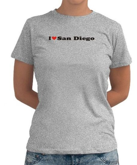 I Love San Diego Women T-Shirt