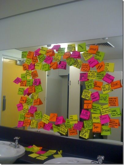 Operation Beautiful inspiring self-love post its everywhere- Check out what can be done!