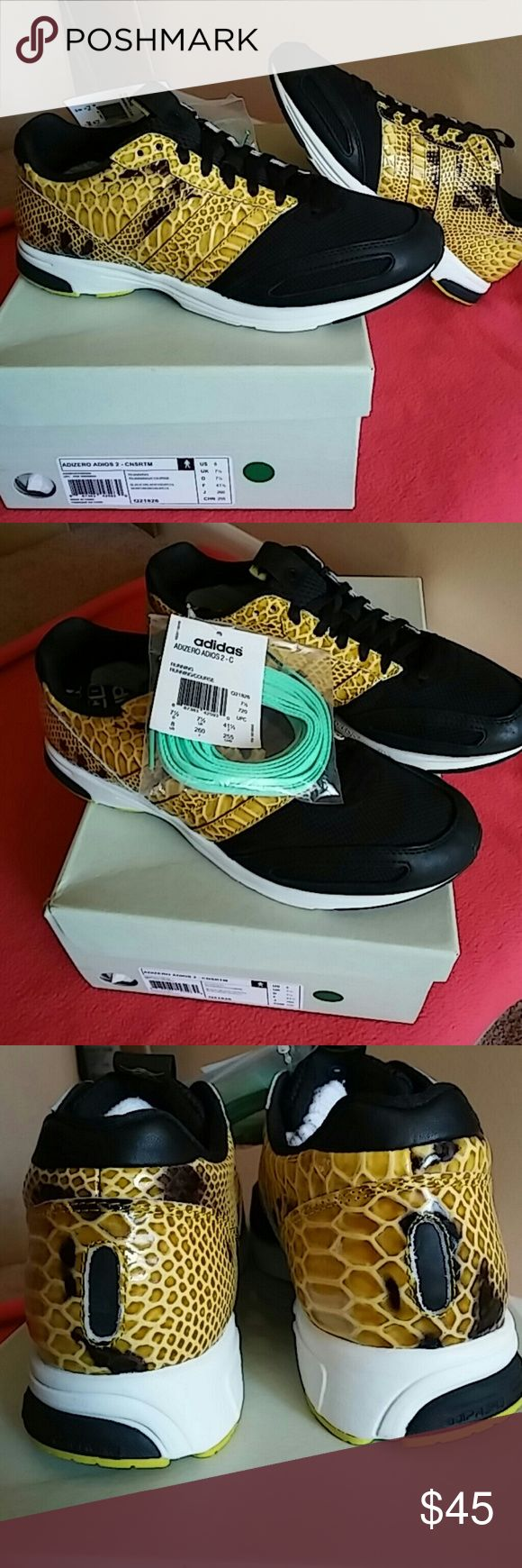 Brand New Adidas Adios II Brand New in original box with additional green lace ...MEN SIZE 8...and WOMEN SIZE 10... Adidas Shoes Sneakers