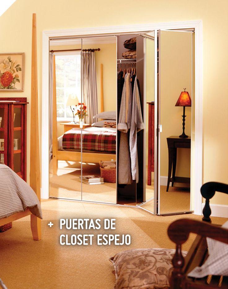 Erias kit puerta closet plegable con espejo 60x205 cm - Kit puertas plegables ...