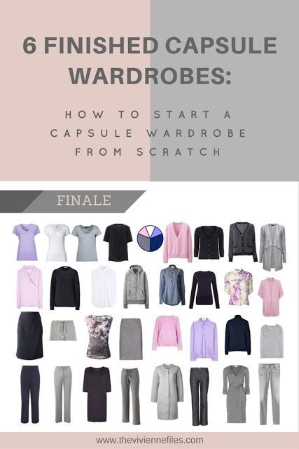 How to build a capsule wardrobe from scratch - 6 finished wardrobes
