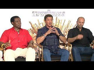 The Expendables 3: Wesley Snipes, Sylvester Stallone & Jason Statham Junket Interview --  -- http://www.movieweb.com/movie/the-expendables-3/wesley-snipes-sylvester-stallone-jason-statham-junket-interview