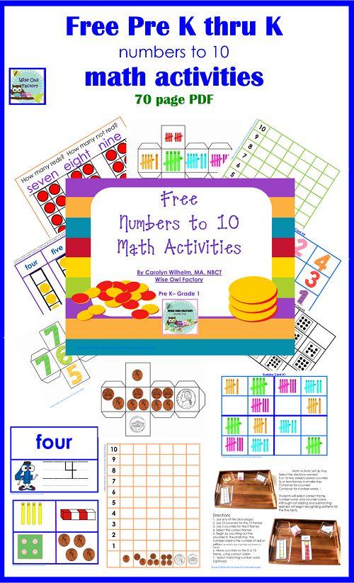 free math activities
