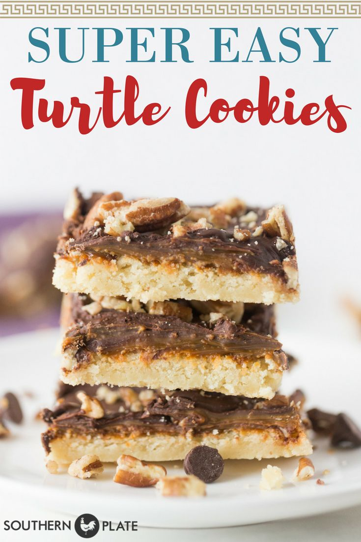 Super Easy Turtle Cookies – and Changing Focus ~ https://www.southernplate.com