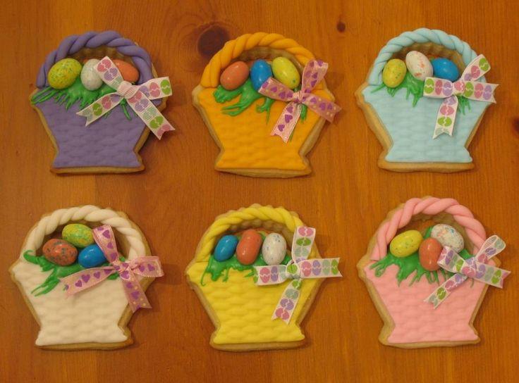 bolachas pascoa cesto de ovos