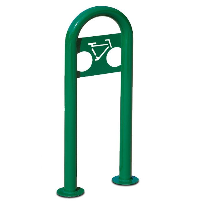 Traditional 2 Bike Marquee Post Freestanding Bike Rack