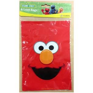 1118 - Elmo Loot Bags. Pack of 6 www.facebook.com/popitinaboxbusiness