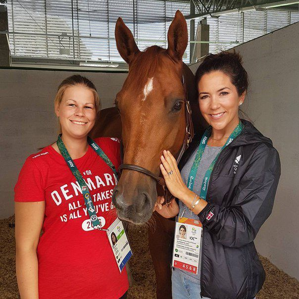 Crown Princess Mary met with the Danish Olympic Horse-Riding team