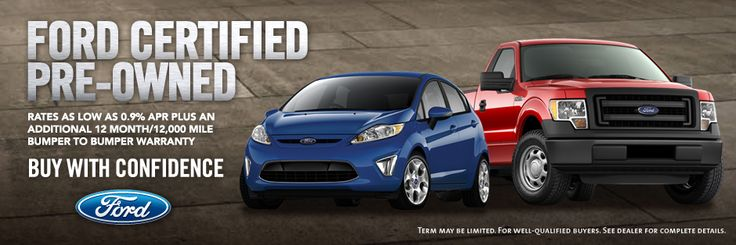Looking for a Certified Pre-Owned Ford?  We'd love to help.