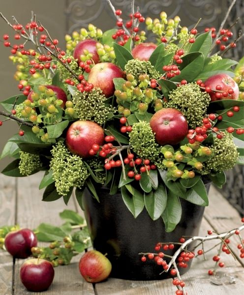 A FALL floral bouquet of Apples :: Owocowy bukiet : Weranda Country