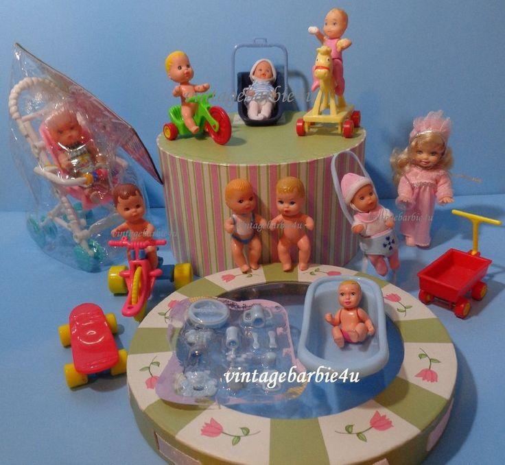 Vintage Barbie Newborn Nikki Baby Krissy Kelly Doll Lot Clothes New & EUC Mattel #MattelSimbaetc #DollswithClothingAccessories