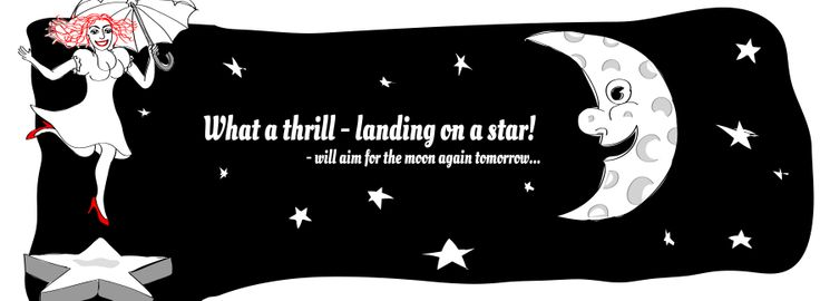 Remember the small stars on your way to the moon... By www.molsner-illustrated.dk