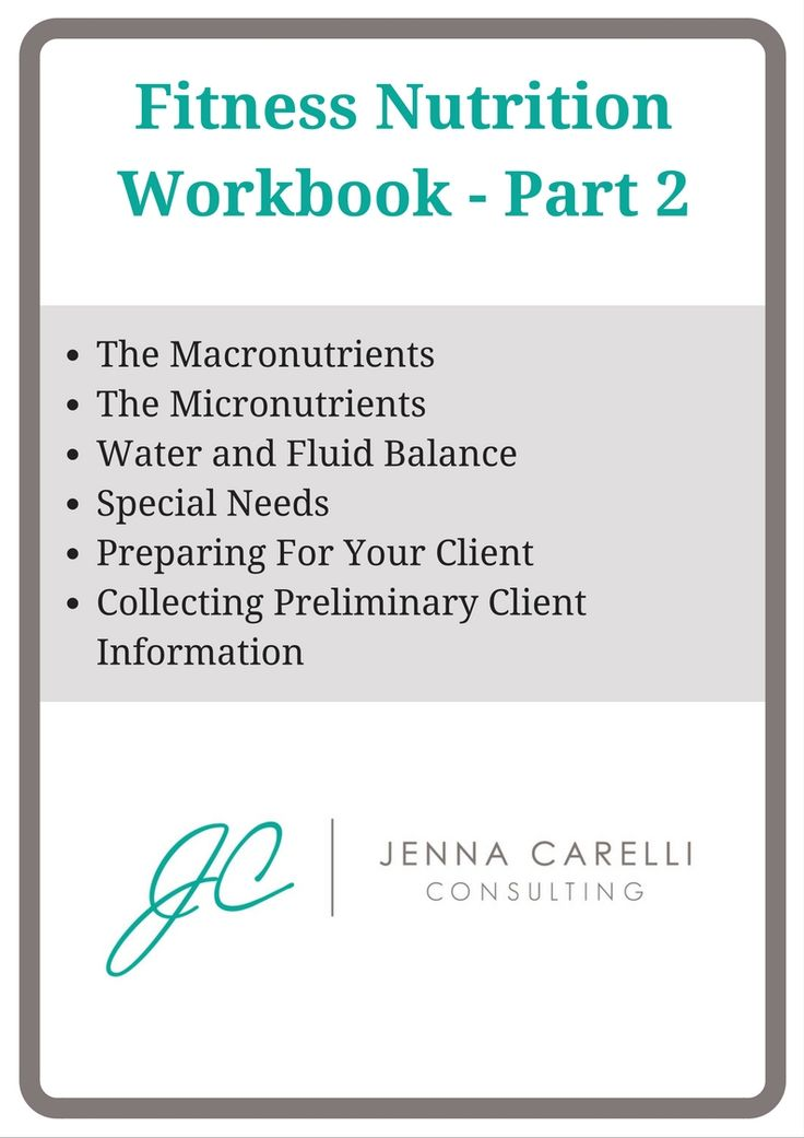 Get your workbook today and start educating yourself on the concepts behind fitness nutrition to better serve yourself or your clients