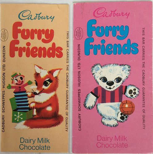 1970s Cadbury Furry Friends Wrappers | by nz4summers