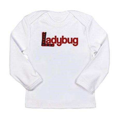 Ladybug Long Sleeve T-Shirt #ladybug #bugs #insects #polka dots #woods #garden #flowers #bulletin boards #decorations #womens clothing #girls clothing # kids clothing