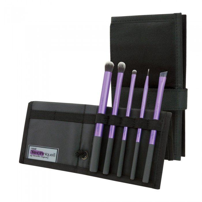 REAL TECHNIQUES STARTER SET KIT DE 5 PINCEAUX YEUX - Accessoires Maquillage - Maquillage - Visage - Easyparapharmacie