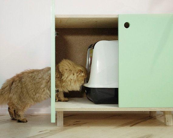 Les 25 meilleures id es de la cat gorie bac a litiere sur - Meuble litiere pour chat ...
