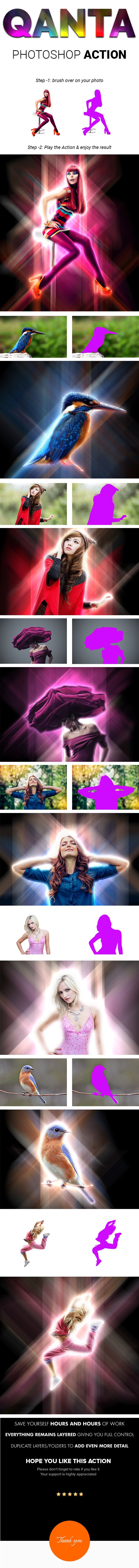 QANTA - Neon light glowing Effect Photoshop Actions - Photo Effects Actions