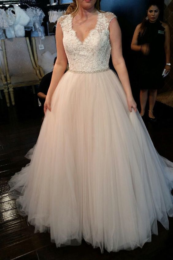 Nice Simple lace plus size bridal dress from Darius Customs
