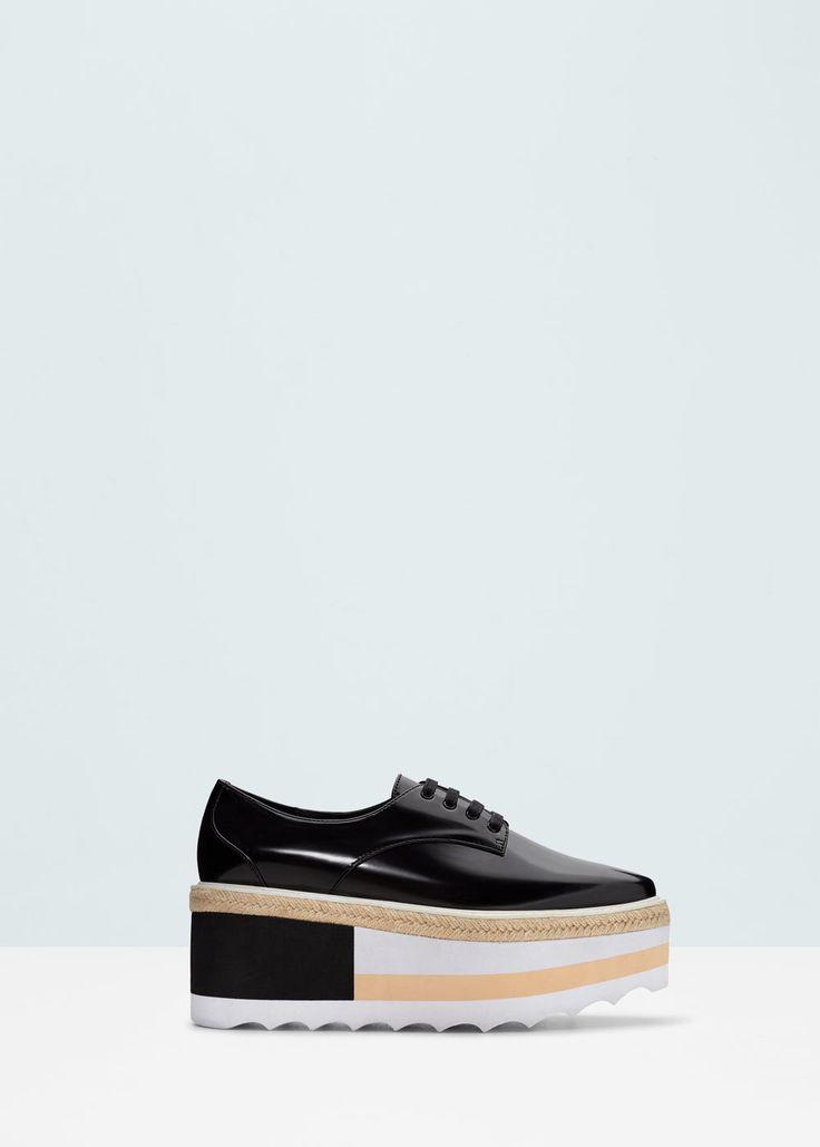 Zapato plataforma contraste - Zapatos de Mujer | MANGO