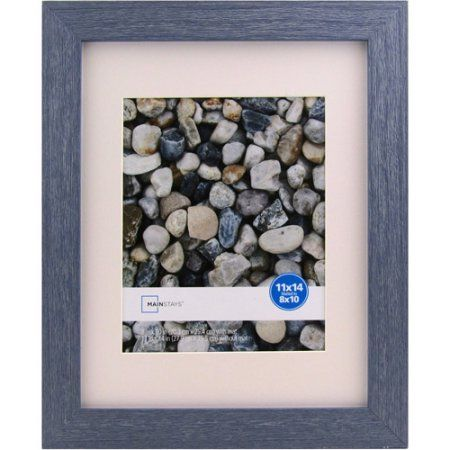 Mainstays Ogunquit 11x14 Matted to 8x10 Blue Picture Frame