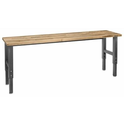 Gladiator 96-in W Hammered Granite Adjustable Height Maple Work Bench