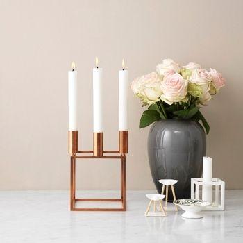 Copper Kubus 4 candleholder.