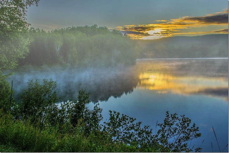 Lac De Cornes, Quebec at Sunrise