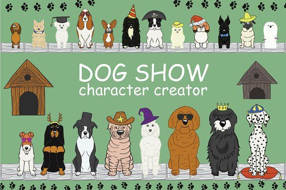 Dog Show | character creator by Ink & Brush Art on @creativemarket