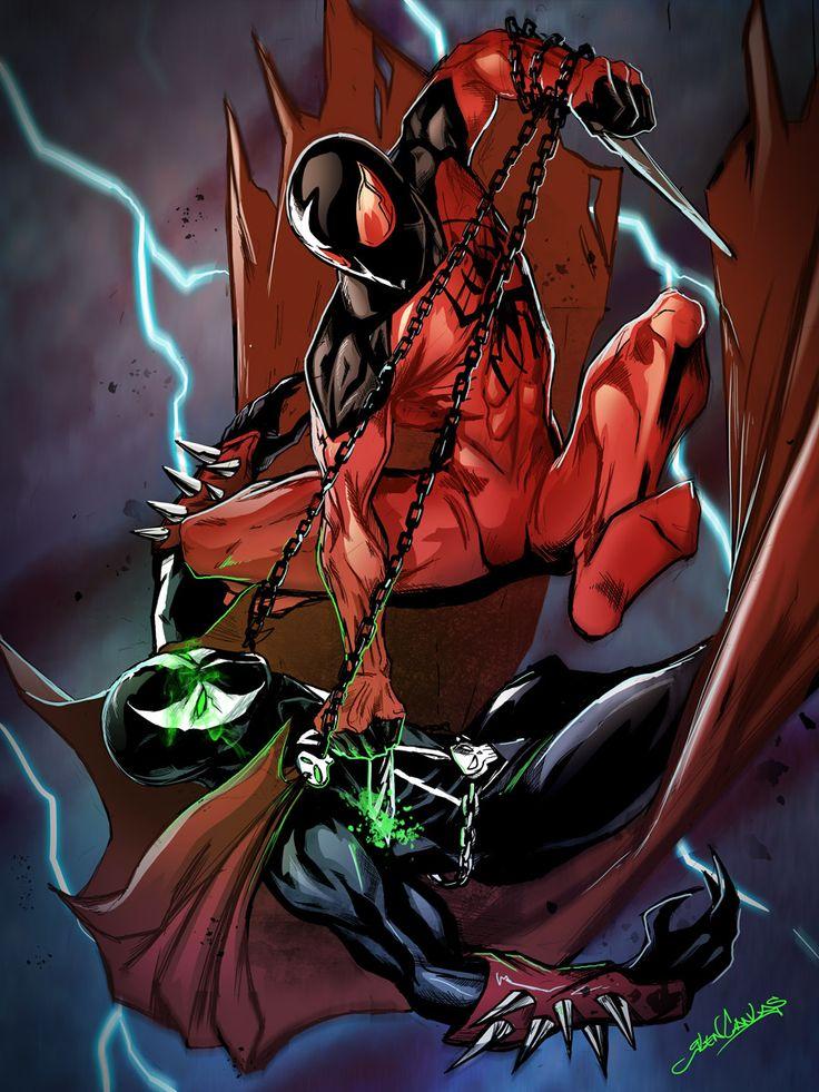 Scarlet Spider vs Spawn - Glen Canlas