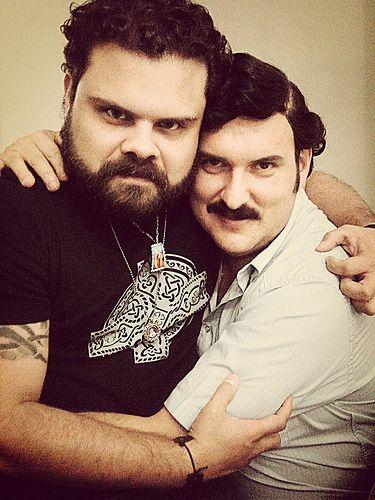 Andres Parra y Julian Caicedo (Candonga) actores de la