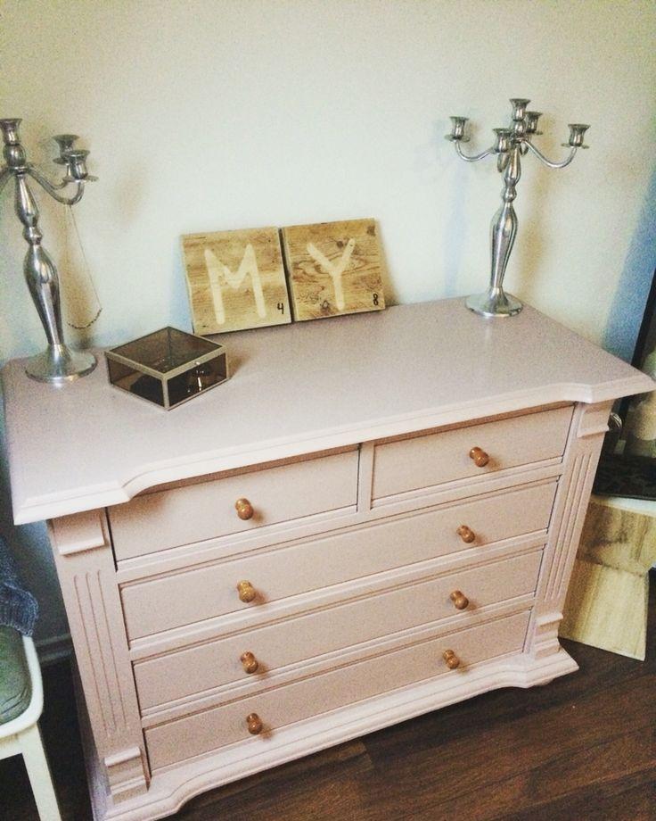 Ladekast - dressoir - roze - pink - painting the past - diy - rubywonen - chalkpaint