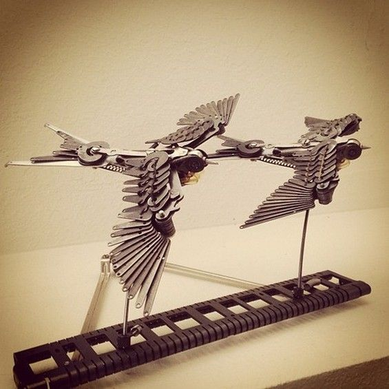 Steampunk Swallow and Other Typewriter Sculptures | HISTORIES OF THINGS TO COME